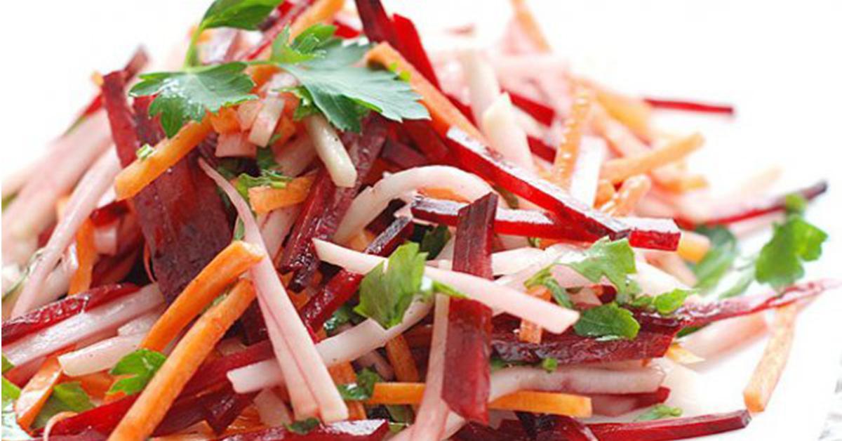 Салат морковь и свекла