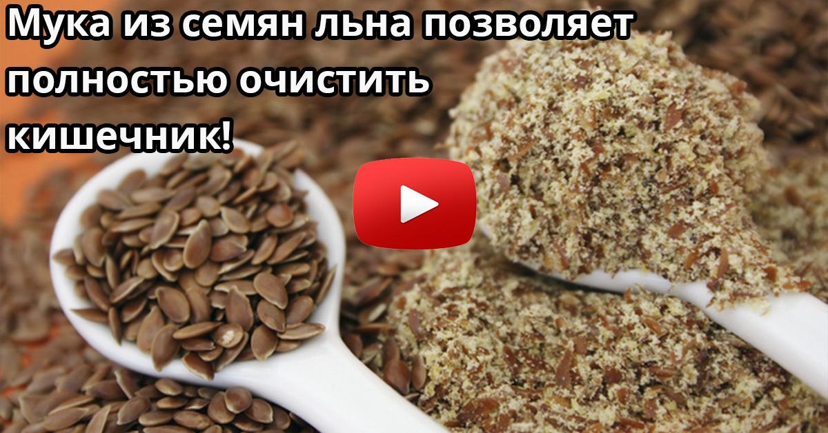 как чистить кишечник в домашних условиях семенами льна