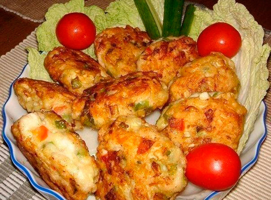 Котлеты из овощей с фаршем с фото