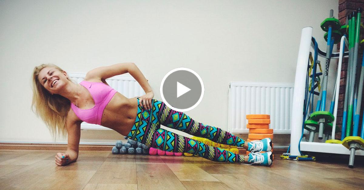 Видеоролик зарядки для похудения