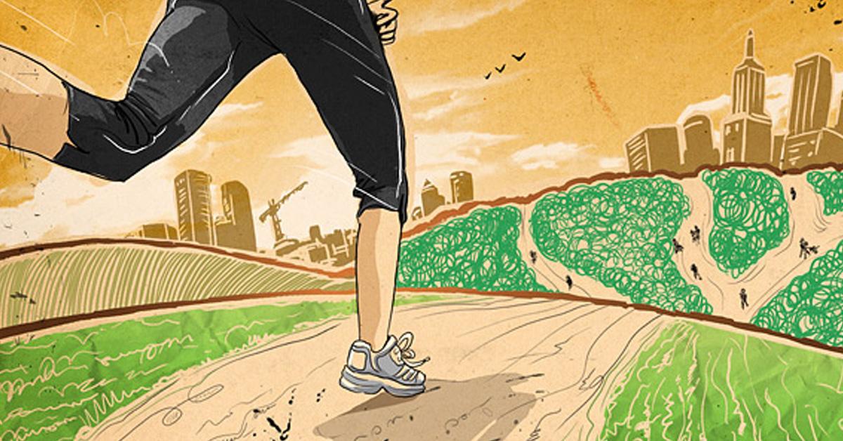 Девушке, картинка бегущего человека прикол